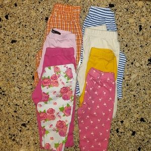 Other - BUNDLED baby girl leggings/capris. Sz 18 mo.